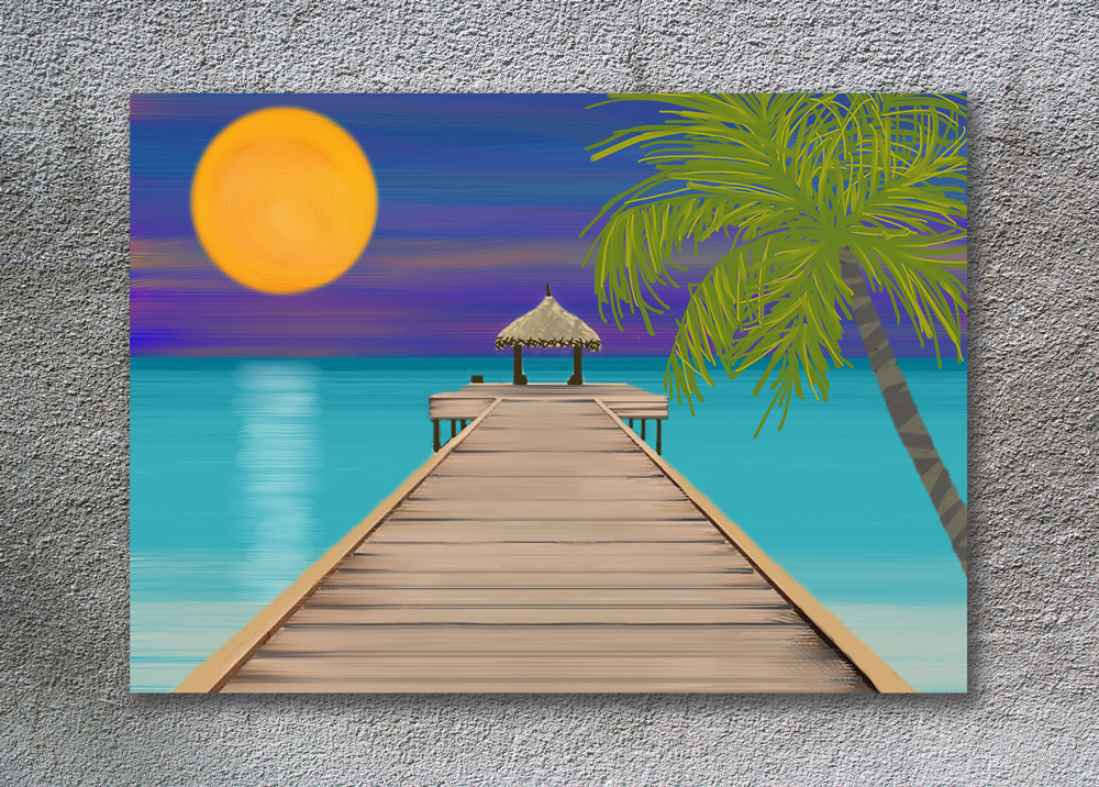 Ocean Pier Painting